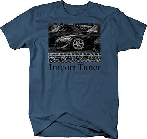 Bold Imprints Retro - Import Tuner Honda S2000 Hardtop Convertible Roadster Tshirt - (Honda Import Tuner)