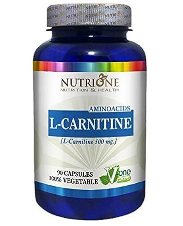 L-Carnitina 500MG 90CAPS Nutrione - L-Carnitine: Amazon.es: Salud y cuidado personal