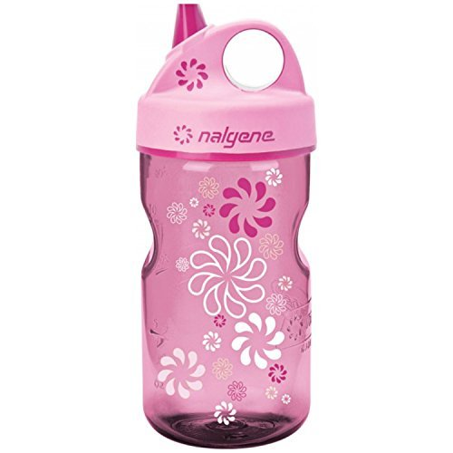 Nalgene Grip-n-Gulp Everyday Kids 12oz Water Bottle - 2 Pack (Pink Wheels)
