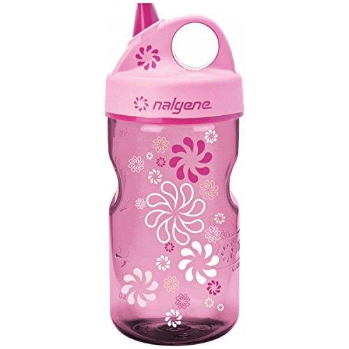 Nalgene Grip-n-Gulp Everyday Kids 12oz Water Bottle - 2 Pack (Pink Wheels)