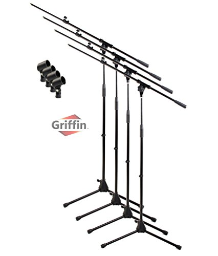 Telescoping Tripod Microphone Boom Stand with Mic Clip  by G