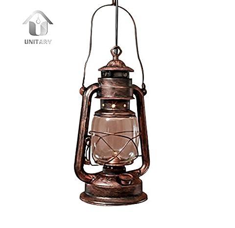 UNITARY BRAND Antique Glass Oil Lamp Design Industrial Pendant Light Max 60W With 1 Light Anti Bronze Finish