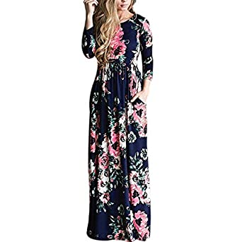 b66f4a187629e Xuba Summer Floral Print Beach Dress Holiday Hot Long Maxi Dresses ...