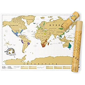 Amazon scratch map travel map travel sized personalized scratch map original gumiabroncs Gallery