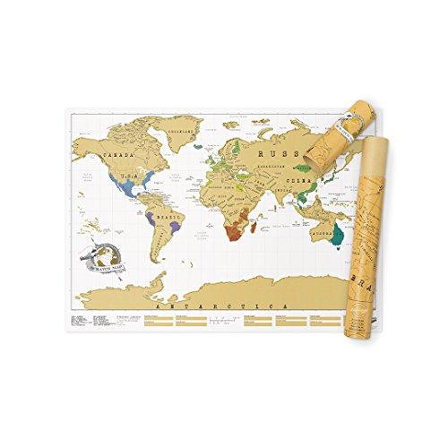 Scratch Map Original Scratch off Map, Personalized World Travel Map Poster with countries, states, cities