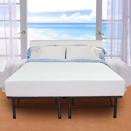 Spa Sensations Steel Smart Base Bed Frame Black, Queen Size