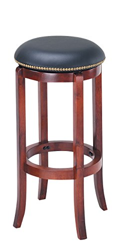 Oak Traditional Bar Stools (Acme 07199 Chelosea Swivel Bar Stool, Oak Finish, 29-Inch)