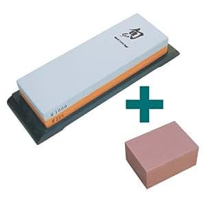 KAI Shun DM-0708 - Piedra de afilar con piedra afiladora toishi (grano 300/1000)