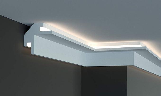 Eccezionale Cornice per illuminazione indiretta led a parete e soffitto IU36
