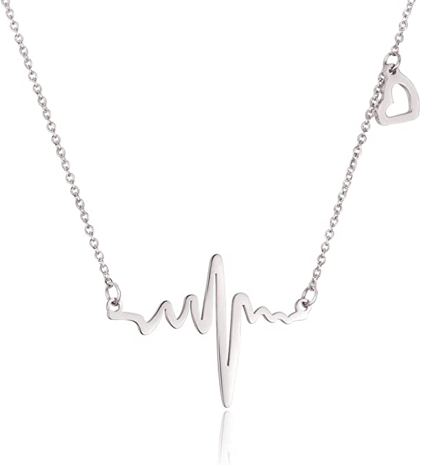 Heartbeat EKG necklace