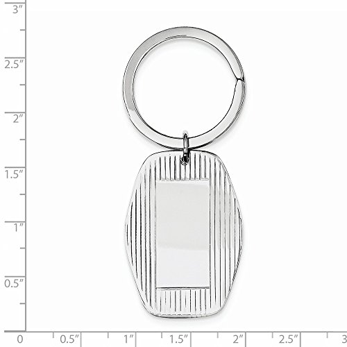 Sterling Silver Engravable Key Ring from Jewelry Pot