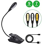 Best Book Lights - Book Light, 7 LED Reading Light with 9-Level Review