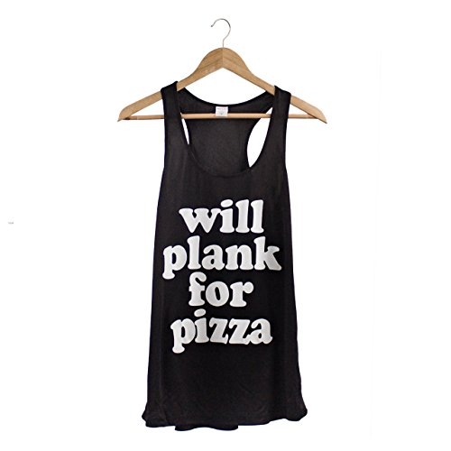 South by Sea Women's Will Plank For Pizza Tank Large Black - South Sea Tank