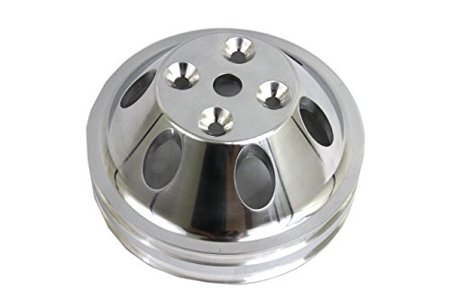 Aluminum Water Pump Pulley 1 Groove LWP Long Water Pump For SB Chevy 327 305 350