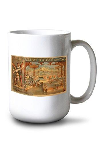 The Arabian Nights - Aladdin's Wonderful Lamp - Vintage Advertisement (15oz White Ceramic -
