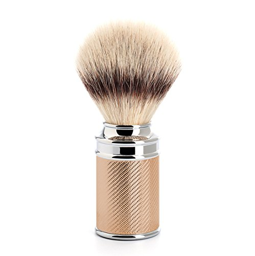 Traditional Shave Brush - Rose Gold/Silver Tip Fibre brush by Muhle