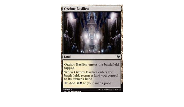 Amazon Com Orzhov Basilica Commander 2017 Toys Games Orzhov basilica enters the battlefield tapped. orzhov basilica commander 2017