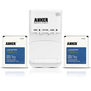 Anker® 2 x 1900mAh Li-ion Batteries for Samsung Galaxy S II S2 GT-I9100, Galaxy S2 II I9100, Galaxy S2 II 9100G ( Note: Charger is White ) + Free Anker Multi-purpose USB Travel Charger
