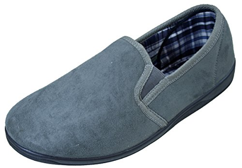 Bügel Gusset Ohne Herren Foam Einlegesohle Memory Pantoffeln Kunstwildleder Grau Twin qvxww6ZX