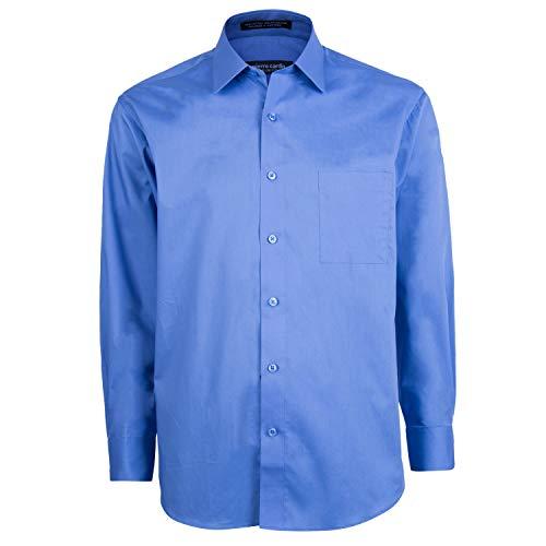 - Pierre Cardin Mens Slim Fit Shirt (Ocean Blue, 15-15.5 (32/33))