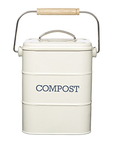 Kitchencraft Living Nostalgia Metal Kitchen Compost Bin, Ant
