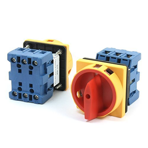 660V 40A 3-Pole 2-Position Panel Rotary Cam Changeover Switch 2Pcs