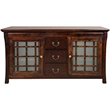 RONBOW Kozo 60 Inch Living Room / Bathroom Furniture in Vintage Walnut, Wood Cabinet with Three Drawers, Wood Countertop, 040460-D-F07_Kit_1
