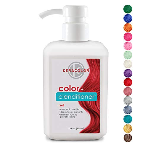 Keracolor Clenditioner Color Depositing Conditioner Colorwash, Red, 12 fl. oz. (Colour Protecting Conditioner)