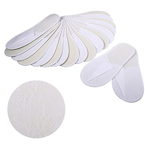 Disposable Slippers, 10 Pairs/Lot Disposable Guest Slippers Travel Hotel Slippers SPA Slipper Shoes Comfortable New for Men & Women, Perfect for Home, Hotel Or Commercial Bulk Use by Estink (Image #3)