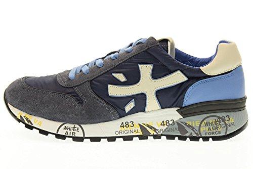 Premiata Mand Lave Sneakers Mick 1280e Størrelse 43 Blå khwbs2MW