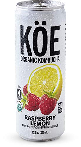 (KÖE Organic Kombucha | Raspberry Lemon | 12oz. Cans (12 Pack))