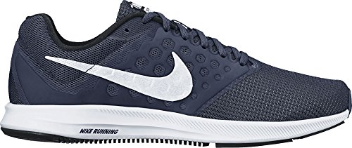 c5dcc1951a3e3 Men s Nike Downshifter 7 Running Shoe (4E) Midnight Navy White Dark  Obsidian Black Size 14 Wide 4E