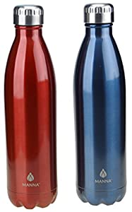 Manna Vogue Insulated Bottles 25 Oz 2 Pack Red And