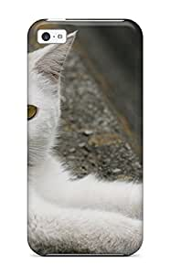 Evelyn C. Wingfield's Shop Iphone 5c Cat With Blue And Yellow Eyes Tpu Silicone Gel Case Cover. Fits Iphone 5c