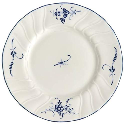 CREAFLOR 6er Set Brotteller Vieux Luxembourg D 16cm wei/ß blau Porzellan Villeroy /& Boch