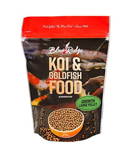 Blue Ridge Fish Food Pellets [2LB] Koi and Goldfish Growth Formula, Large Floating Pellet, Balanced Diet