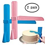 Icing Smoother, 2 Pack Adjustable Cake Scraper Cake Smoother Fondant Smoothing Tool Cake Decorate Smoother Polisher