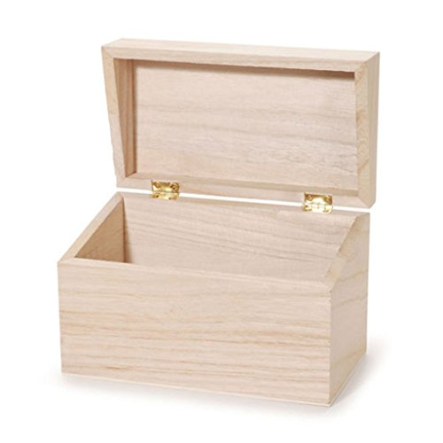 Darice 9190 126 Wood Recipe Box