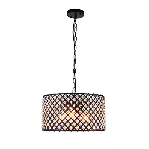 3 Light Drum Pendant Crystal Lighting