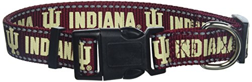 Pet Goods Manufacturing NCAA Indiana Hoosiers Dog Collar, Large]()