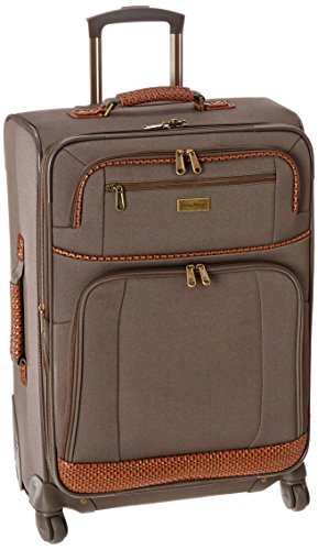 (Tommy Bahama Lightweight Spinner Luggage - Expandable Suitcases for Men and Travel with Rolling Wheels, Brownstone)