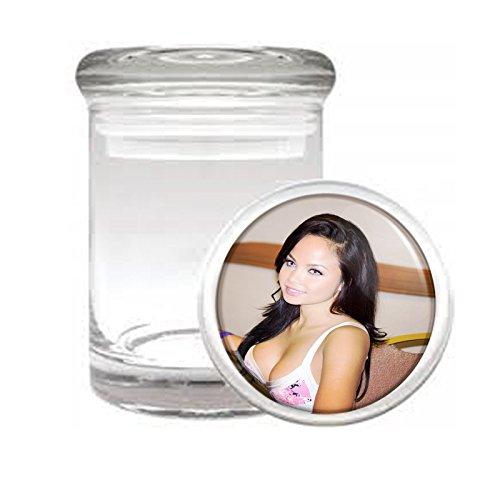 MedicalガラスStash Jar California USA Pin Up Girls s5 Air Tight蓋3