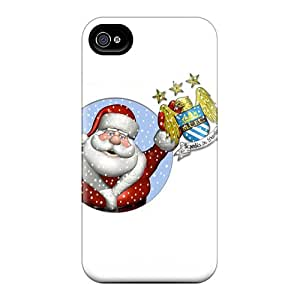 Henrydwd Case Cover For Iphone 4/4s - Retailer Packaging Man City Santa Protective Case
