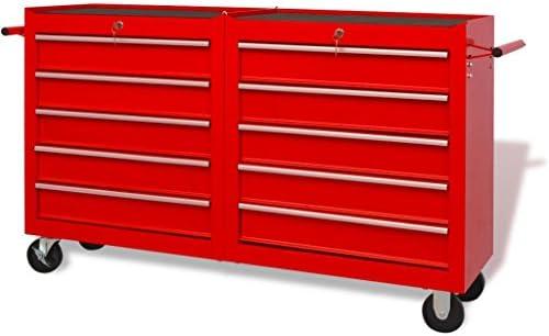 Furnituredeals carro de herramientas de 8 modulos Carrito-caja de ...