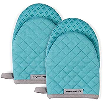 KitchenAid Kitchen Aid Asteroid Oven Mitts, Mini, Aqua