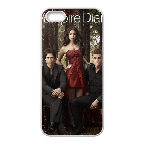 The Vampire Diaries 021 coque iPhone 4 4S cellulaire cas coque de téléphone cas blanche couverture de téléphone portable EOKXLLNCD20299