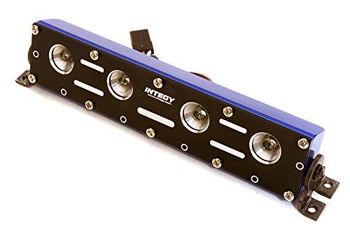 Integy RC Model Hop-ups C26889BLUE Realistic Roof Top LED Light Bar w/Metal Housing 125x18x27mm for 1/10, 1/8 & - 27mm Bar
