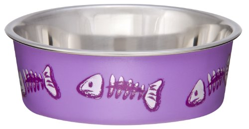 Image of Loving Pets Fish Bella Bowl for Cat, X-Small, Lilac