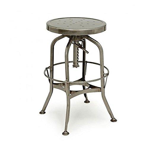 Design Lab MN Toledo Adjustable Barstool, Gunmetal
