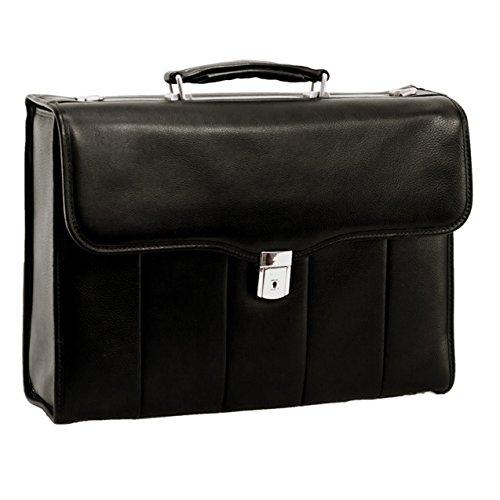 Executive Laptop Briefcase, Leather, 15.4